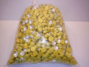 Huge 2500 Piece Lot 20mm Flip Top Cap Aluminum Crimp Seal Serum Vials Yellow