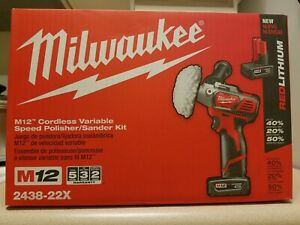 Milwaukee 2438 22 M12 Spot Polisher Sander Kit With Battery And Charger