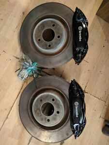 2007 12 Ford Mustang Gt500 Front Brembo 4 Piston Brake Calipers Rotors