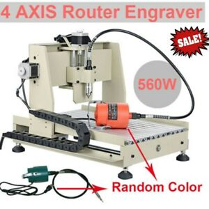 4 Axis 3040 Router Engraver Engraving Cutter Milling 560w Desktop Machine 110v