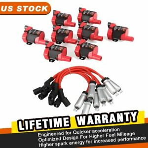 Engine Ignition Coil Spark Plug Wire Set For Chevy Silverado Gmc 4 8 5 3 6 0l