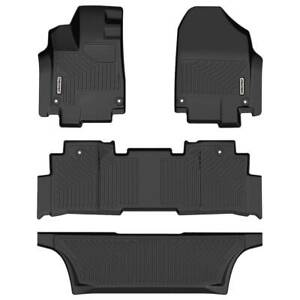 Oedro Floor Mats Liners Unique Black Tpe For Honda Odyssey 2018 2021 All Weather