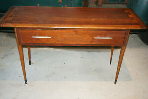 Vintage Mid Century Lane Sofa Console Hall Table Danish Modern Dovetail