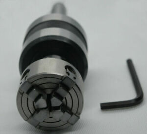1mt Shank Revolving Live Center M12 X 1 With 50 Mm 4 Jaws Independent Chuck Mt1