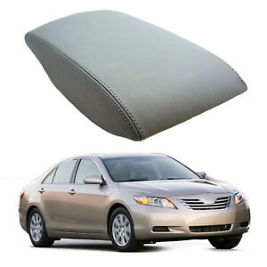 Gray Center Console Lid Armrest Leather Cover Fits For 2007 2011 Toyota Camry