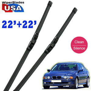 22 22 Ford Quality Car Rubber Beam Windshield Wiper Blades Frameless J Hook