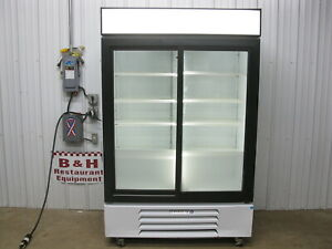 Beverage Air Glass Sliding Two 2 Door Merchandiser Refrigerator Beverage Cooler