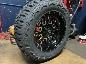20x10 Fuel D611 Stroke 35 Mt Wheel And Tire Package 5x150 Fits Toyota Tundra