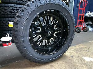 20x10 Fuel D611 Stroke 33 Mt Wheel And Tire Package 5x150 Fits Toyota Tundra