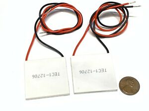 2 Pieces Tec1 12706 Heatsink Thermoelectric Cooler Cooling Peltier 12v 60w B5