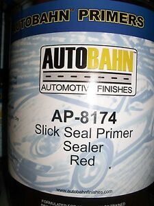 Red Slick Seal Primer Sealer Ready To Spray 1 Gallon Auto Car Truck Paint Kit
