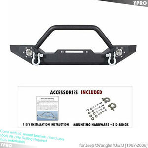 For 1987 2006 Jeep Wrangler Yj Tj Front Bumper Guard W Winch Plate