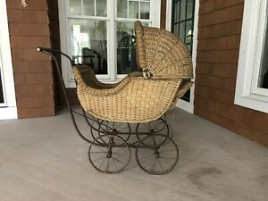 Whitney Reed Antique Wicker Baby Carriage