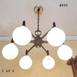 650b 70 S Vintage Ceiling Light Lamp Fixture Atomic Mid Century Eames Chandelier