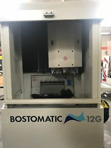 Bostomatic 12g Vmc 2001 3200x Cnc Control 6 atc Chiller Dust Collector