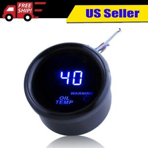 Black 2 Inch 52mm Digital Led Oil Temp Temperature Gauge Oil Temperature Meter