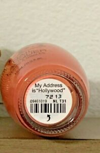 OPI Nail Polish MY ADDRESS IS quot;HOLLYWOODquot; NL T31 Discontinued Colors For Sale $8.99