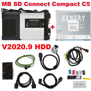 V2019 12software Mb Sd C5 Sd Connect Compact 5 Star Diagnosis For Cars Trucks