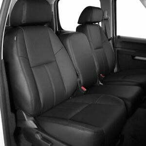 Katzkin Ebony Leather Seat Covers 10 11 12 13 Sierra Silverado Crew Cab