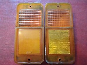 68 69 70 71 72 Chevy Gmc Pu Pickup Unlighted Side Marker Lights C10 C20 Amber 2