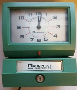 Acroprint 150qr4 Heavy Duty Time Recorder Time Clock free Shipping