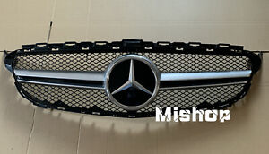 Fit Mercedes Benz C Class W205 C200 C250 15 18 C63 Amg Style Front Grill Grille