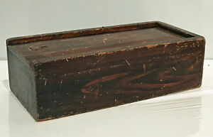 Slide Lid Candle Box In Old Paint