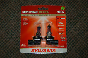 Sylvania Silverstar Ultra 9006 Pair Set High Performance Headlight 2 Bulbs New