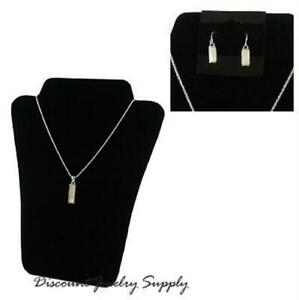 Curved Necklace Display Easel 8 Black 2 Stands