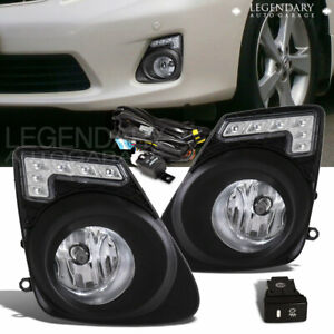 Fog Lights Lamps W Bulbs For 2011 2013 Corolla Clear Lens Front Bumper Wiring