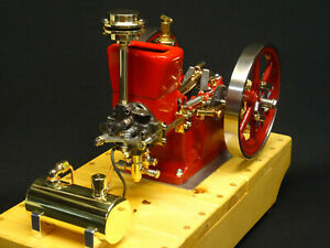 1 3 Scale Associated Gas Powered Model Hit And Miss Engine Motor Antique