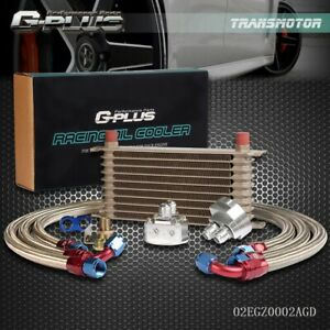 Gplus 10 Row 10an Universal Engine Racing Oil Cooler Filter Relocation Kit