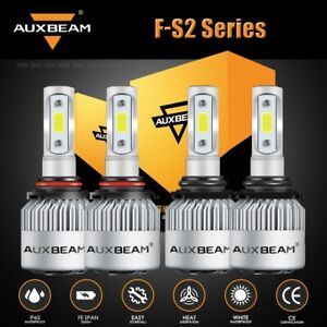 Auxbeam 9005 9006 Led Headlight Hi lo Beam For Gmc Sierra 1500 2500 Hd 1995 2006