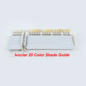 Ivoclar Vivadent Dental Teeth Shade Guide A d 20 Color Porcelain Based On Vita