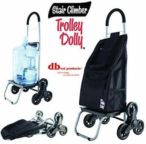 Dbest Products Stair Climber Trolley Dolly Black Shopping Grocery Foldable Car