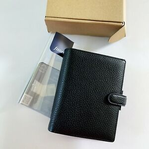 Filofax Finsbury Pocket Organizer Planner Black Leather