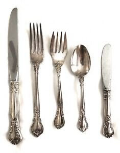 Gorham Chantilly Sterling Silver Flatware Service Set 25 Pcs No Monograms