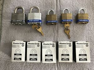 Lot Of 10 Master Lock 8 No 4 2 No 5 All Are Keyed Alike