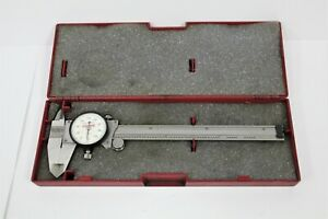 Starret No 120a 6 6 Dial Caliper White Dial With Case