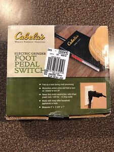 Cabela s Electric Meat Grinder Foot Pedal Switch New In Box W Free Shipping
