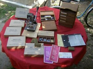 Kingsley Hot Foil Stamping Machine M 60 lots Of Extras Please Ck Pics Tested