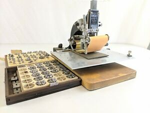 Kingsley Hot Gold Foil Stamping Machine Vintage Rare With Letters
