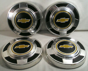 Vintage Auto Parts Chevrolet Chevy 10 Aluminum Hub Caps Set Of 4