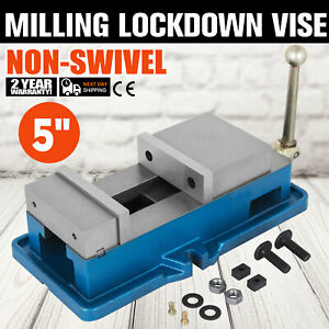 5 Non swivel Milling Lock Vise Bench Clamp Hardened Metal Secure 125mm Open