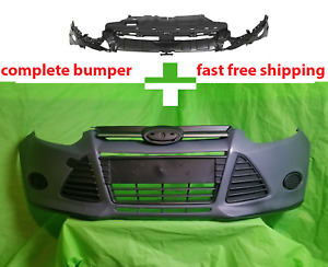 2012 2014 Ford Focus Front Bumper Cover Complete W Grills Bracket Cp9z17c897a