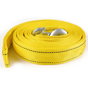 Heavy Duty Recovery Tow Strap With Hooks 13 000 Lb Capacity Rescue Winch Sling