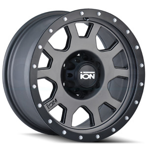 4 New 15 Ion 135 Wheels 15x8 5x4 75 5x120 65 20 Matte Gunmetal Rims