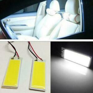 2x 12v Xenon Hid White 36 Cob Led Dome Map Light Bulbs Car Interior Panel Lamps