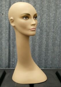 Less Than Perfect 321 Long Neck Female Display Mannequin Head Form Painted Face