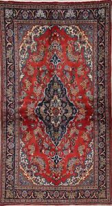 Traditional Medallion Floral Persian Oriental Hand Knotted 3 X 6 Wool Runner Rug